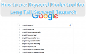 Keyword Finder tool for Long Tail Keyword Research